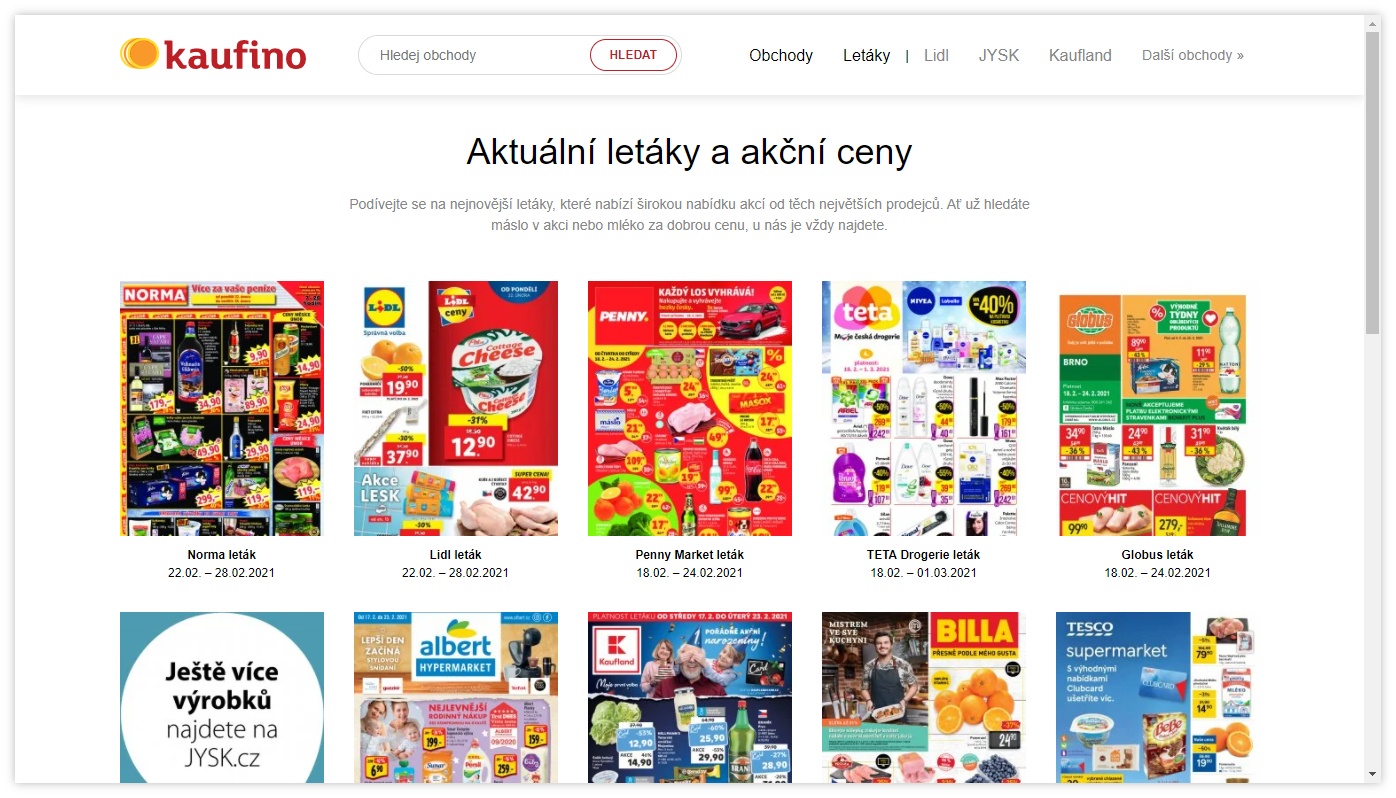 Akční letáky na Kaufino.cz