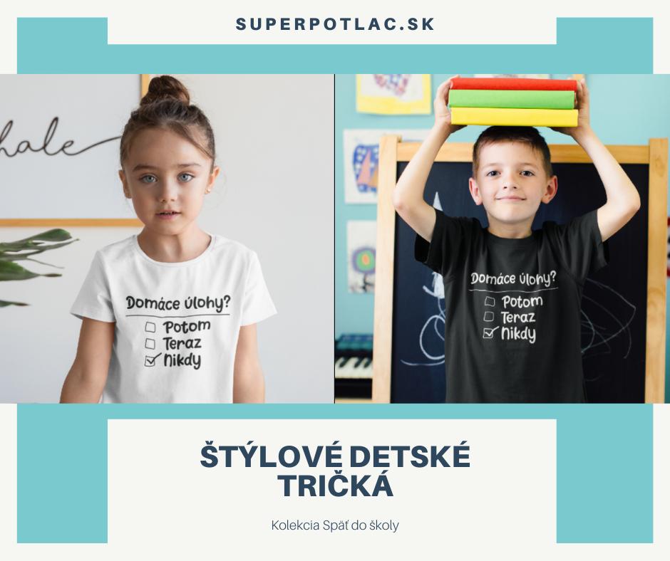 Superpotlač detské tričká